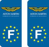 Lot de 2 adhésifs Aston Martin Europe