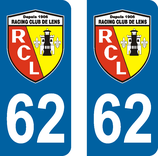 Lot de 2 stickers du RCL Racing Club de Lens