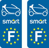 Lot de 2 adhésifs Smart cabriolet Europe