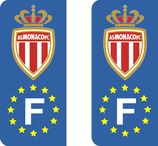 Lot de 2 stickers AS Monaco Europe