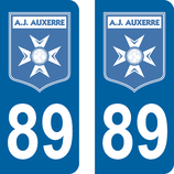 Lot de 2 stickers AJ Auxerre