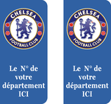 Lot de 2 stickers club Foot CHELSEA
