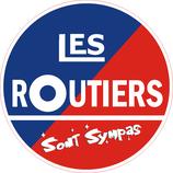 """1 Sticker rond """" Les Routiers sont sympas"""" 100 mm"""