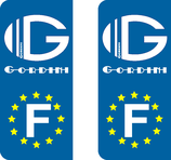 Lot de 2stickers Europe et Gordini