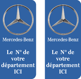 Lot de 2 stickers Mercedes n° au choix