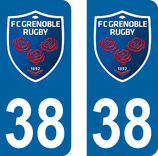 Lot de 2 stickers FCG  Grenoble n°38