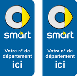 Lor de 2 stickers Smart N° au choix