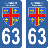 Lot de 2 stickers de Clermont Ferrand