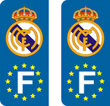 Lot de 2 stickers Real de Madrid Europe