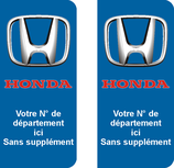 Lot de 2 stickers Honda N° au choix