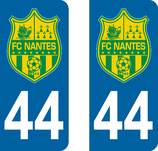 Lot de 2 stickers FC Nantes 44