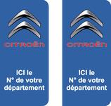 Lot de 2 stickers Citroen N° de Départ au choix