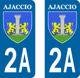Lot de 2 stickers Ville Ajaccio