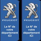 Lot de 2 adhésifs Peugeot N° au choix