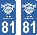 Lot de 2 stickers Castres Olympique