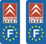 Lot de 2 stickers Citroen Sport Europe