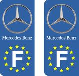 Lot de 2 adhésifs Mercedes europe