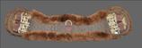 Anatomischer geformter Lammfell Sattelgurt - braun