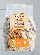 MÜESLI AUX FRUITS  500gr