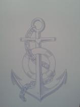 PK-001 Notizblock A5 Anker Anchor maritim Glaube,Liebe Hoffnung Seefahrt Segeln