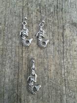 AO-002 Set Nixe Meerjungfrau Loreley Sirene Ohrringe & Anhänger