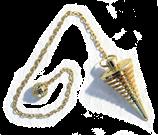 Pendule Sensor cône en métal doré