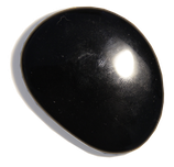 Galet d'obsidienne noire