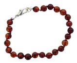 Bracelet ambre perles 6 mm