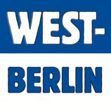 """NEU - Aufkleber """"WEST-BERLIN"""" (Päckchen m. ca. 35 Stück)"""