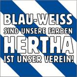 """Aufkleber """"Blauweiß sind unsere Farben"""" (Päckchen m. ca. 40 Stück)"""