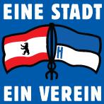 """Aufkleber """"Eine Stadt, ein Verein"""" (Päckchen m. 35 Stück)"""
