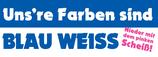 """AUSVERKAUFT - Aufkleber """"Uns're Farben sind Blau Weiss"""" (Päckchen mit 40 Stück)"""
