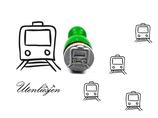 Bahn, Zug - mini Stempel