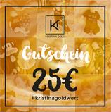 Geschenk-Gutschein Wert 25€