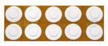 Isolierscheibe aus hitzefestem Kunststoff für 18650 Lithium-Ionen Akkus