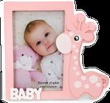 Ref. 6611 Portafotos madera jirafa niña