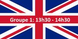 Groupe 1: Anglais de 13h30 à 14h30 / Englisch von 13:30 bis 14:30 Uhr
