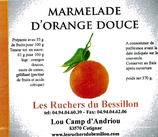 Marmelade d'orange douce en tranches 370g.