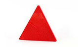 Dreieck Rückstrahler rot