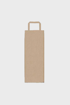 Bolsa asa plana para botella kraft verjurado 100 gr. anónima 14x9x36 Caja de 250 unidades