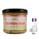 Crevette roses au curry vert 100g