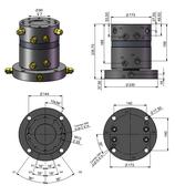 AVS Rotator Doppelflansch mit Drehdurchführung ARG 50-2.1DD
