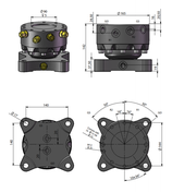 AVS Rotator Doppelflansch ARG30-2