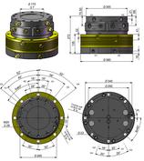 AVS Rotator Doppelflansch mit Drehdurchführung ARB 150-7DD