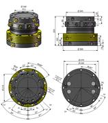 AVS Rotator Doppelflansch mit Drehdurchführung ARB 90-1DD