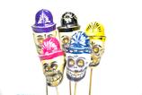 Rassel Calaca mit bunten Hüten