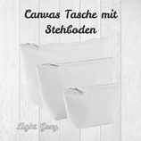 Canvastasche mit Stehboden Light Grey