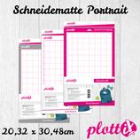 PlottiX Schneidematte 20,32 x 30,48 cm für Portrait