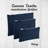 Canvas Tasche navy blue