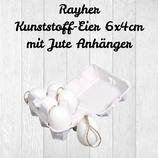 Rayher Kunststoff-Eier 6x4cm